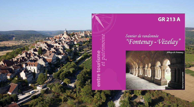 Le GR® 213 A, sentier Fontenay – Vézelay